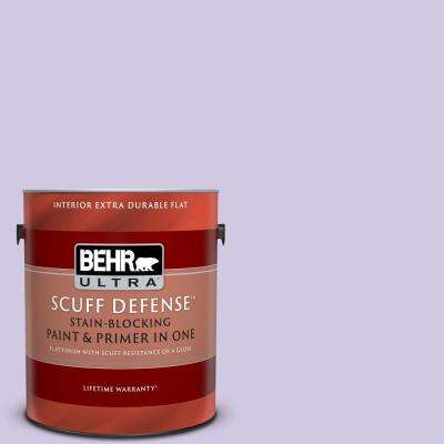 1 gal. #650C-3 Light Mulberry Extra Durable Flat Interior Paint and Primer in One