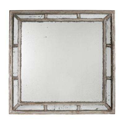 Irving Square Antique White Framed Mirror