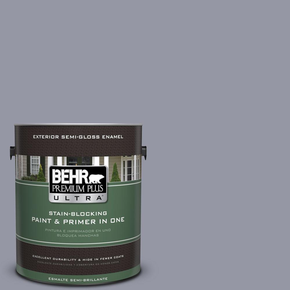 BEHR Premium Plus Ultra 1-gal. #N540-4 Silhouette Semi-Gloss Enamel Exterior Paint