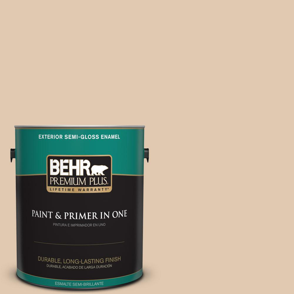 1-gal. #N260-2 Almond Latte Semi-Gloss Enamel Exterior Paint