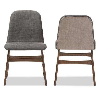 Embrace Gray Fabric Upholstered Dining Chairs (Set of 2)