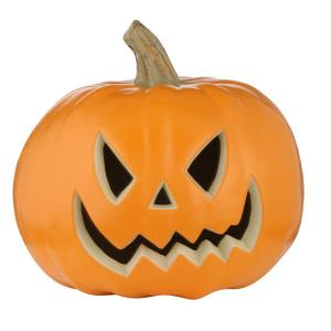 9 in. Pre-Lit Blow Mold Scary Jack-O-Lantern