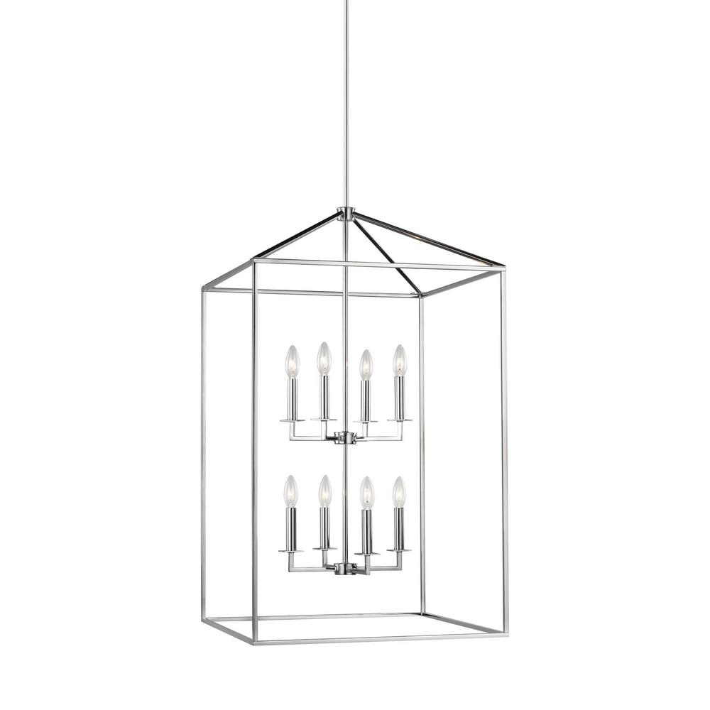 Sea Gull Lighting Perryton 8-Light Chrome Transitional Pendant was $619.0 now $371.4 (40.0% off)