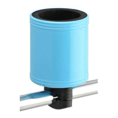 Kroozercups Drink Holder 2.0 Fits Bars from 5/8 in. to 1-3/8 in. with New Super-Tight Grip in Baby Blue
