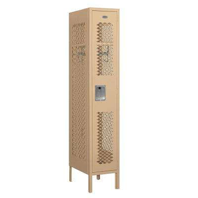71000 Series 1 Compartment Single Tier 12 In. W x 66 In. H x 18 In. D Vented Metal Locker Assembled in Tan