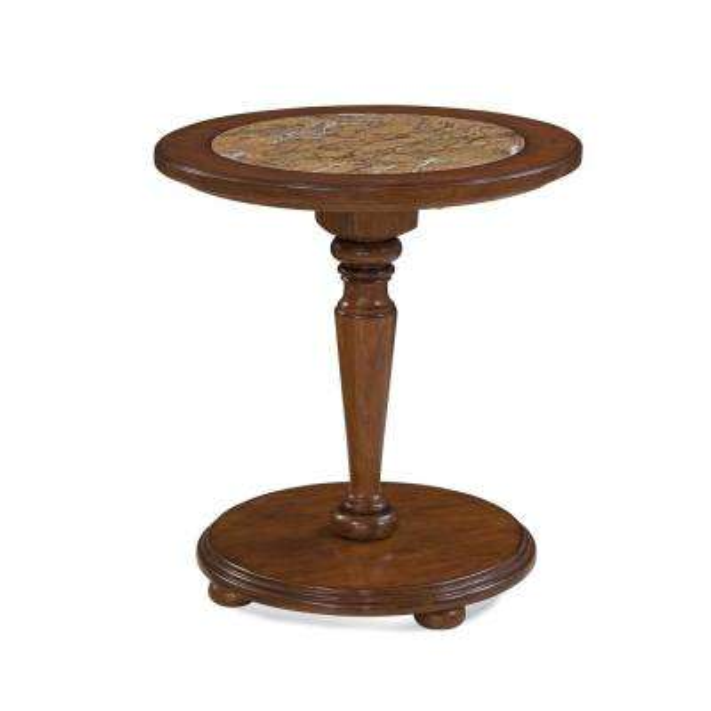 Hudson Bay Golden Brown Pedestal Nightstand