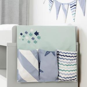 South Shore DreamIt Blue Cotton Little Whale Changing Table Runner and Pennant Banner by South Shore
