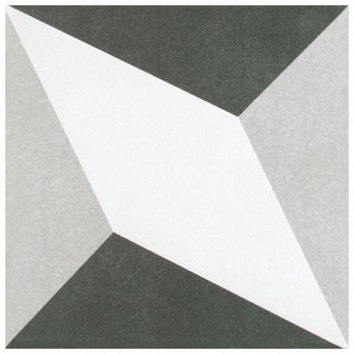 Twenties Diamond Encaustic 7-3/4 in. x 7-3/4 in. Ceramic Floor and Wall Tile
