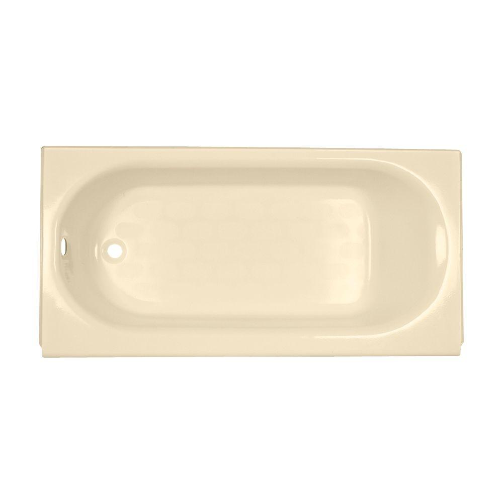 American Standard Princeton 5 ft. Left Drain Americast Bathtub with Integral Apron and Luxury Ledge in Bone-DISCONTINUED