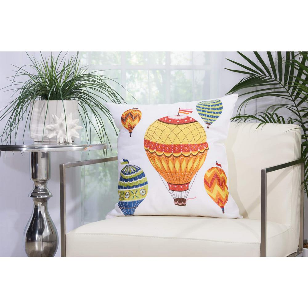 Hot Air Balloons 20 in. x 20 in. Multicolor Indoor and