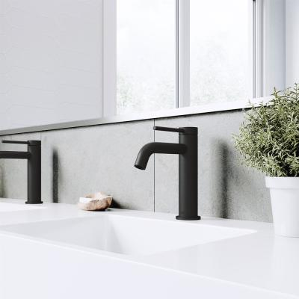 Madison Single Hole Single-Handle cFiber Bathroom Faucet in Matte Black