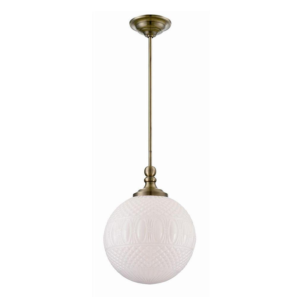 null Volto Collection 1-Light Antique Brass Pendant