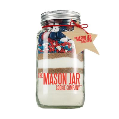 Patriot Mix Cookie Mix in a Mason Jar