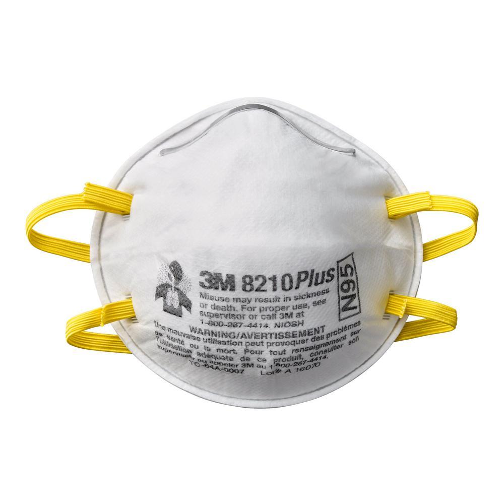 Disposable 8210 Plus Performance Sanding and Fiberglass Respirator (20-Pack)
