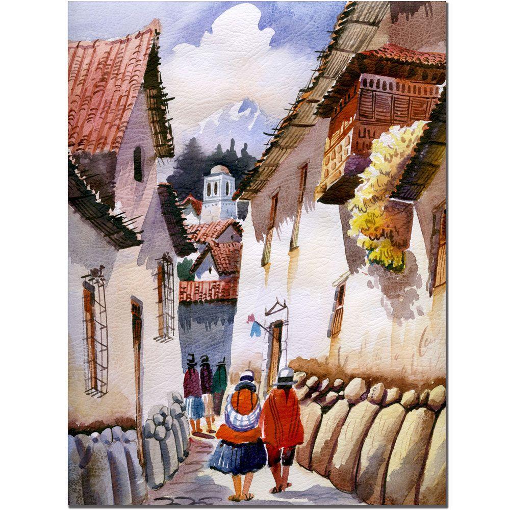 24 in. x 32 in. Cuzco II Canvas Art
