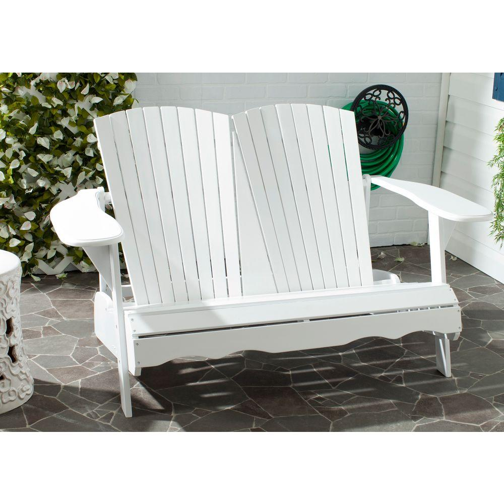 Hantom White Acacia Patio Bench