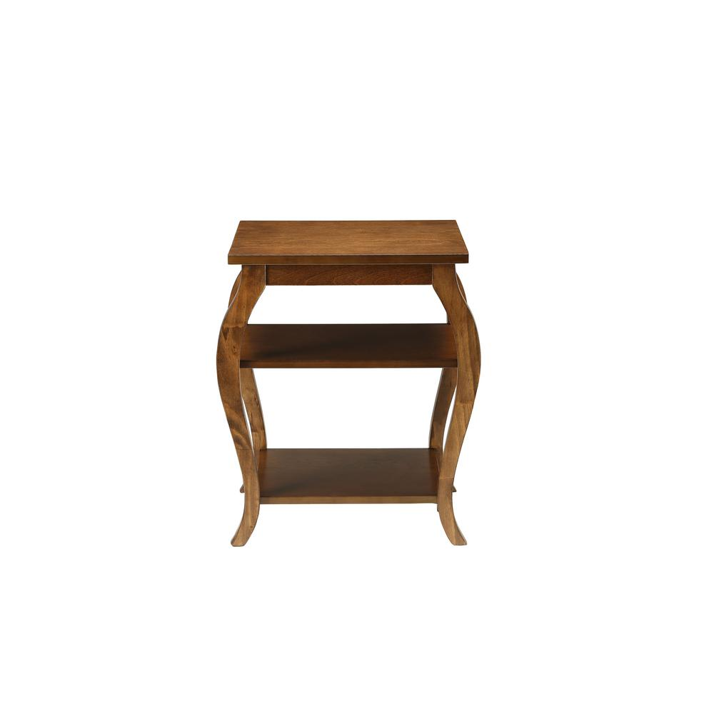 Acme Furniture Becci Walnut Storage End Table82830 The Home Depot