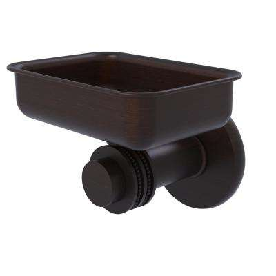 Mercury Collection Wall Mounted Soap Dish with Dotted Accents in Venetian Bronze