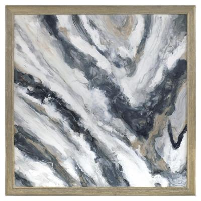"""40 in. x 40 in. """"Siena"""" Framed Hand Painted Canvas Wall Art"""