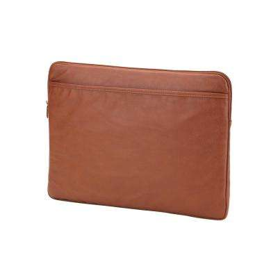 Camel Vegan Leather Laptop Sleeve fits up to 15 in. Laptop