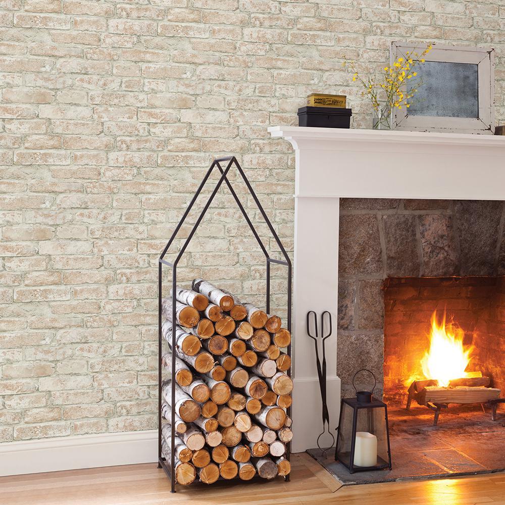 56.4 sq. ft. Arlington Multicolor Brick Wallpaper
