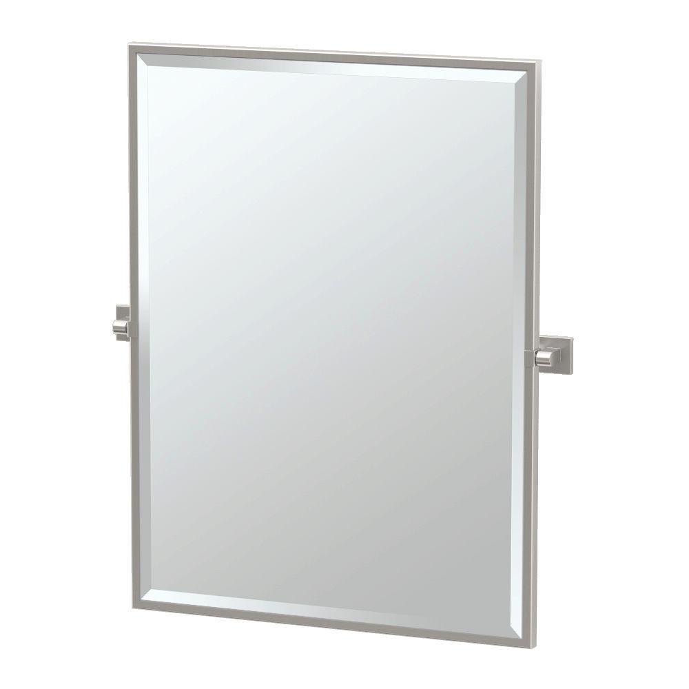 Framed Single Large Rectangle Mirror