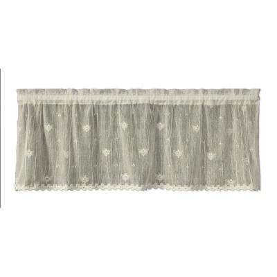 Bee 45 in. L Polyester Valance in Ecru
