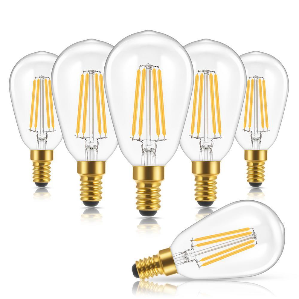40-Watt Equivalent ST48 Edison LED Light Bulb in Warm White 2700K (6-Pack)