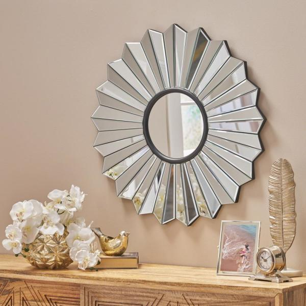 Glam Flower Shaped Wall Mirror