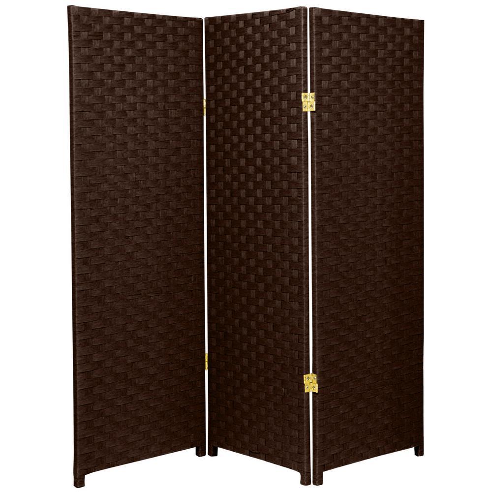 4 ft. Dark Mocha 3-Panel Room Divider