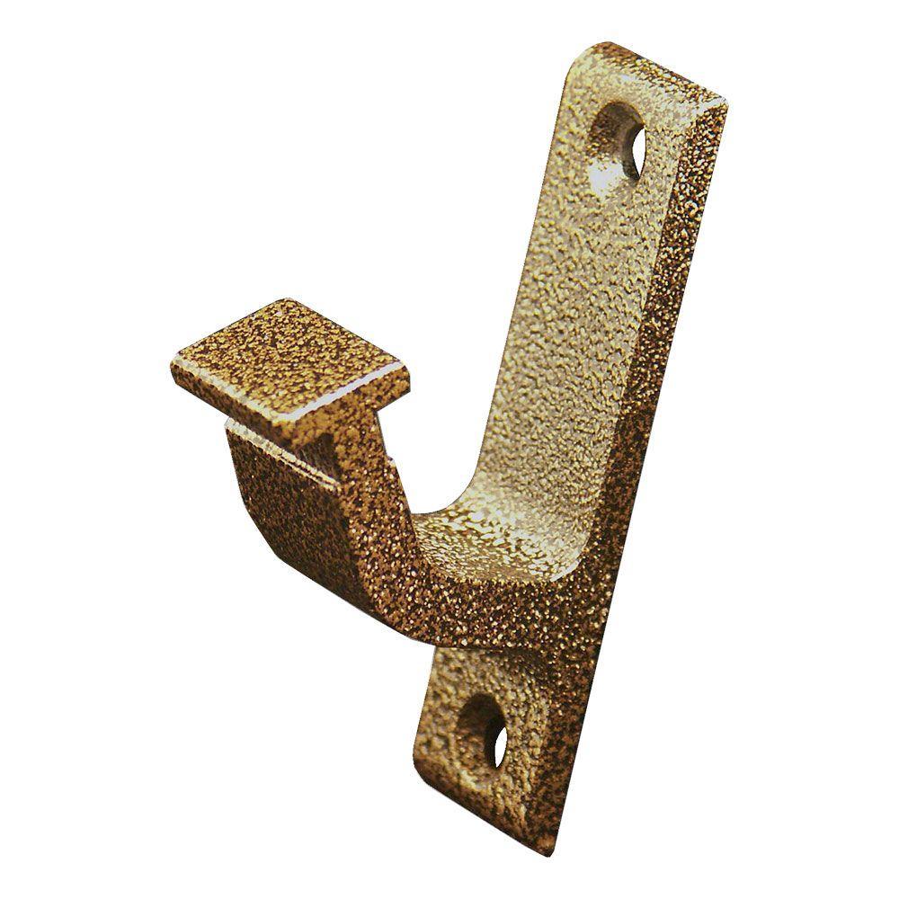 Hammered Antique Brass Vertical Hook Bracket Kit - Gold - Furniture Parts - Furniture Accessories & Replacement Parts