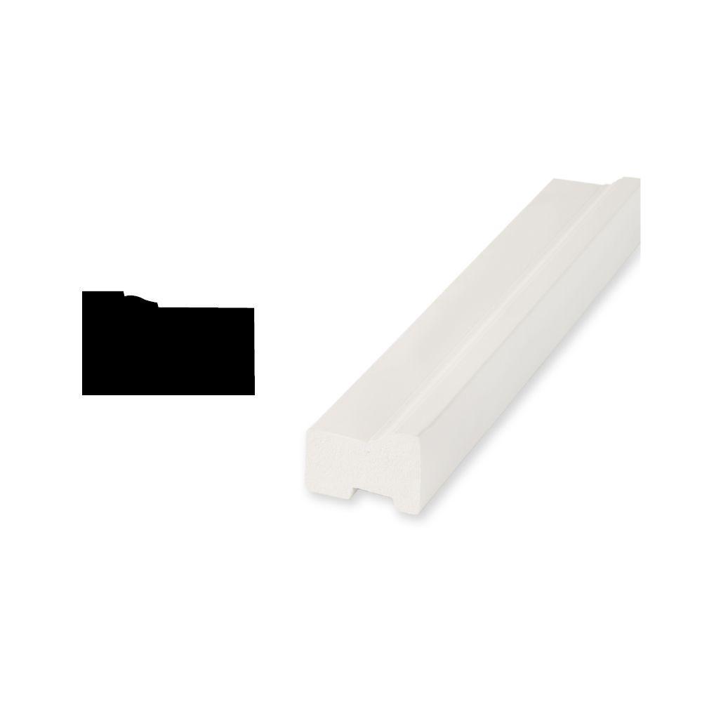 Woodgrain Millwork WM 180 1-3/16 in. x 2 in. x 83-1/4 in. PVC Brickmould