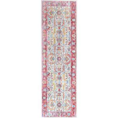 Vintage Persian Edra Blush 3 ft. x 8 ft. Runner Rug
