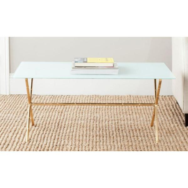 Brogen Gold and White Coffee Table