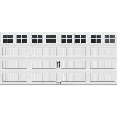 Gallery Collection 16 ft. x 7 ft. 6.5 R-Value Insulated White Garage Door with SQ22 Window