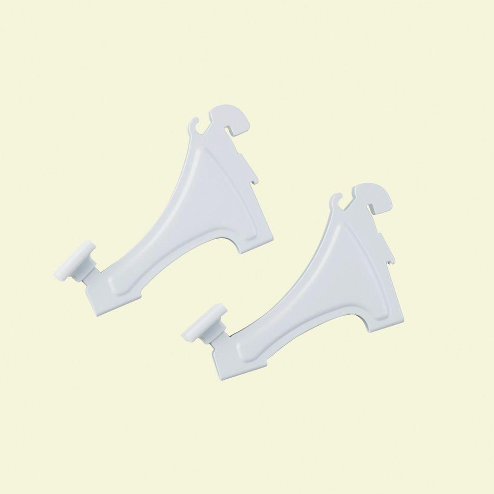 ClosetMaid ShelfTrack 3 in. Wire Shelving Shoe Shelf Brackets (2-Pack)
