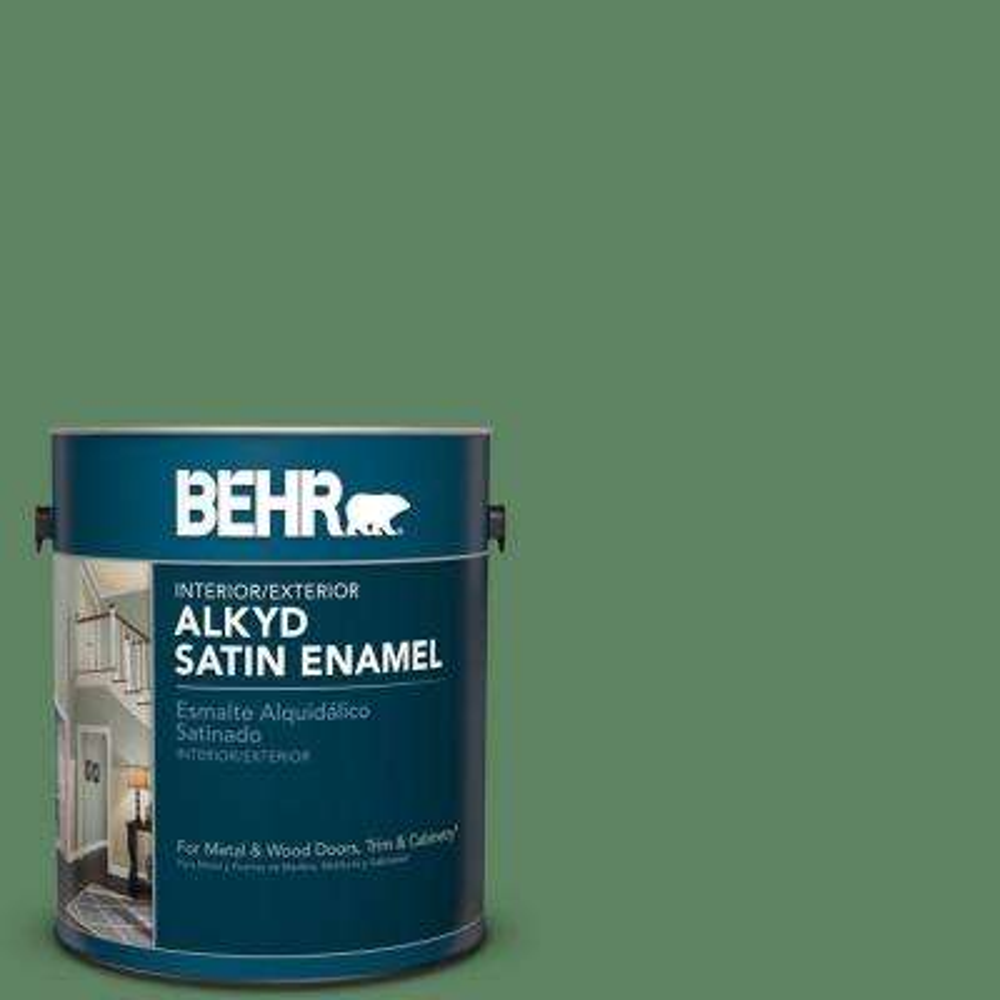 1 gal. #S400-6 Tuscan Herbs Satin Enamel Alkyd Interior/Exterior Paint