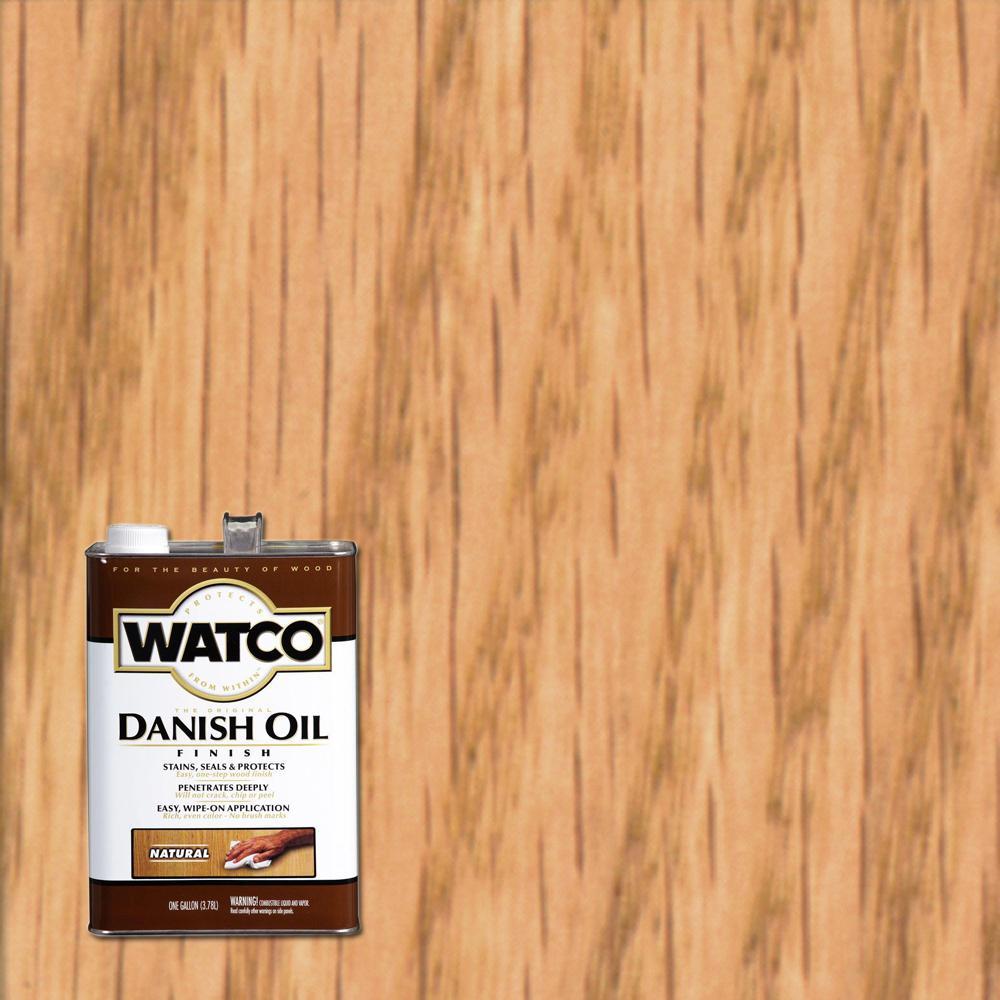 Watco 1 gal. Natural 275 VOC Danish Oil (2-Pack)