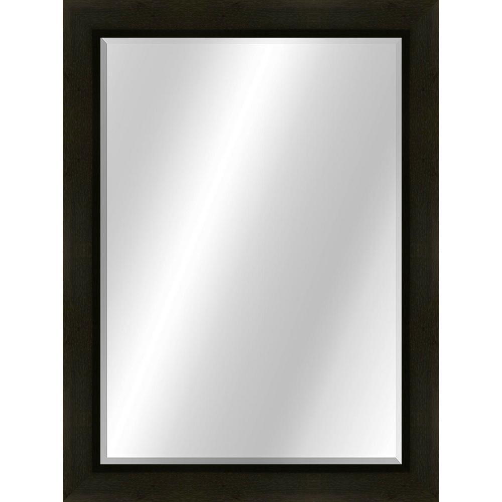 Wood Toned 22 x 28 Value Core Espresso Framed Vanity Mirror