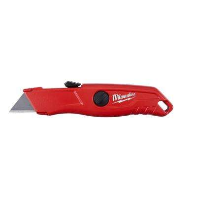 Self-Retracting Utility Knife with Carton Blade
