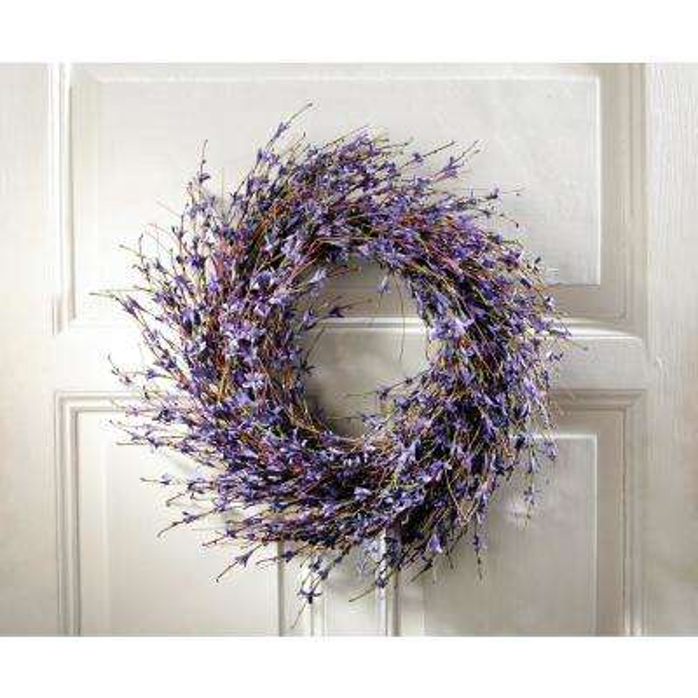 19.7 in. Dia. Lavender-Inspired Purple Dried Door Wreath