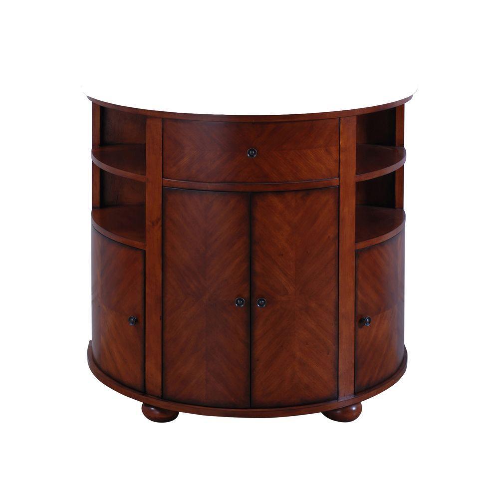 Avanity Oxford 38 in. W x 21 in. D x 34 in. H Vanity Cabinet Only in Dark Oak