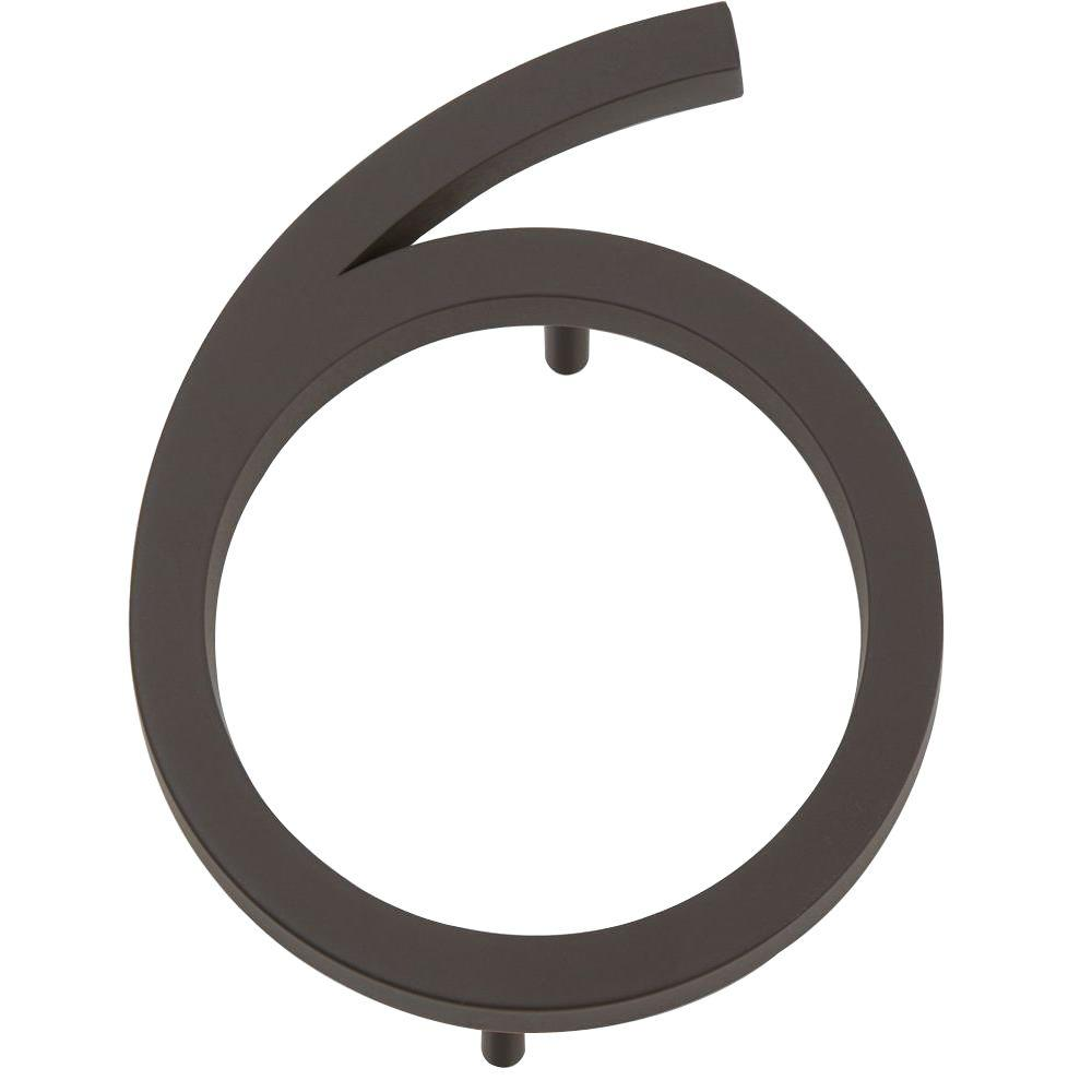 Modern Avalon Collection 4.5 in. Oil-Rubbed Bronze Number 6
