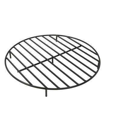 30 in. Round Steel Fire Pit Grate in Black