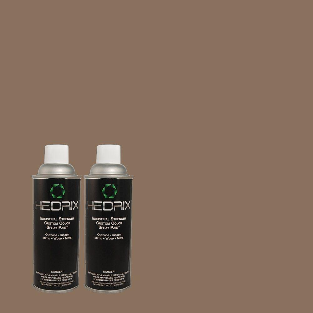 Hedrix 11 oz. Match of 3A37-5 Muskrat Semi-Gloss Custom Spray Paint (2-Pack)