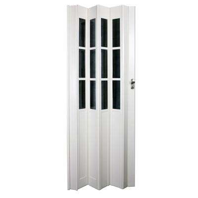 36 in. x 80 in. Devonshire Vinyl White Accordion Door