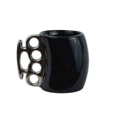 11 oz.Black Knuckle Duster Ceramic Coffee Mug