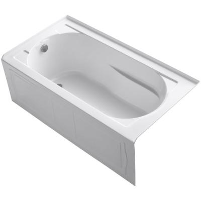 Devonshire 60 in. x 32 in. Acrylic Alcove Bathtub with Integral Apron, Integral Flange and Left-Hand Drain in White