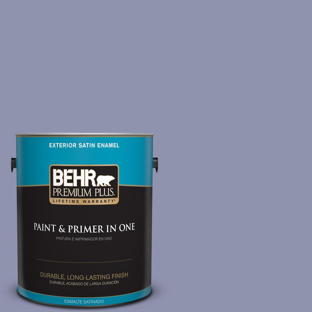 BEHR Premium Plus 1-gal. #S560-4 Monarchy Satin Enamel Exterior Paint