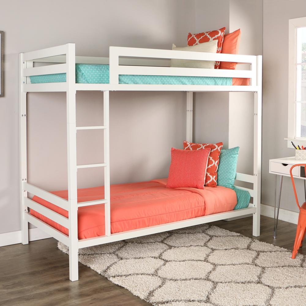 walker edison furniture company bentley twin over twin metal bunk bed